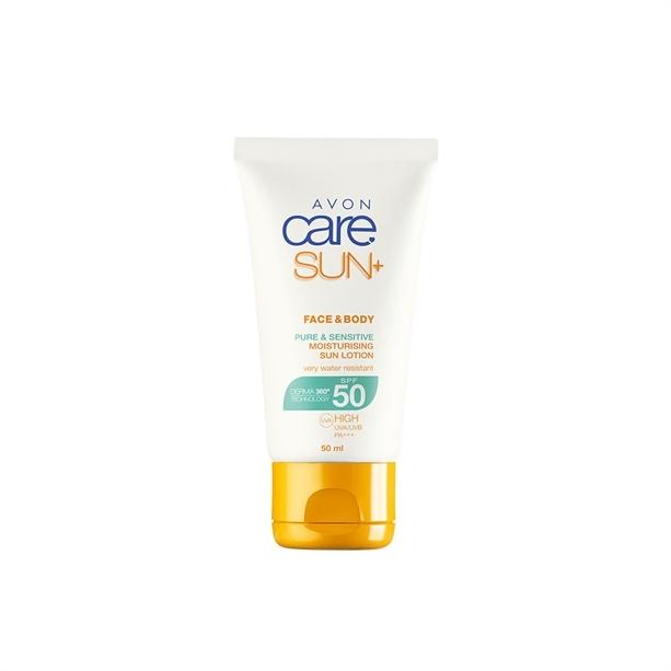 Avon Hydratačné vodeodolné pleťové a telové mlieko na opaľovanie SPF 50+ (Moisturizing Sun Lotion) 50 ml