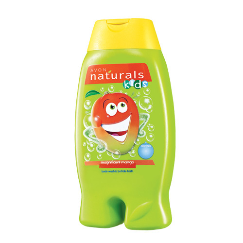 Avon Jemný sprchový gel a pěna do koupele 2 v 1 s mangem Naturals Kids (Magnificent Mango Body Wash and Bubble Bath) 250 ml