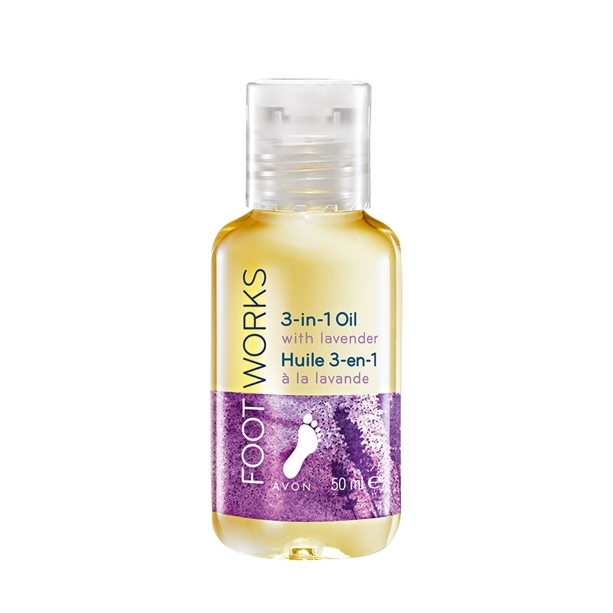 Avon Levandulový olej na nohy 3 v 1 Foot Works (3 In 1 Oil With Levander) 50 ml