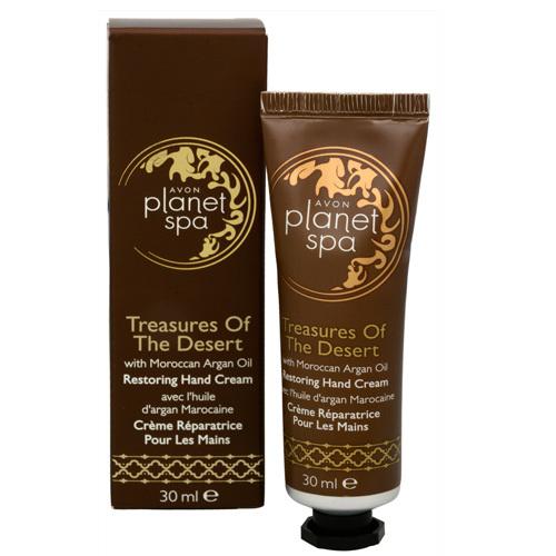 Avon Cremă de mâini restaurativă cu ulei de argan marocan Planet Spa (Restoring hand Cream) 30 ml