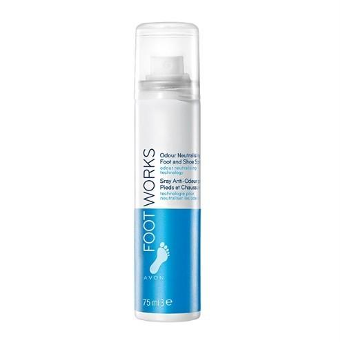 Avon Osvěžující sprej na nohy Foot Works (Odour Neutralising Foot And Shoe Spray) 75 ml