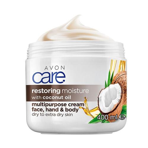 Avon Regeneračný hydratačný krém na tvár, ruky a telo s kokosovým olejom (Miltipurpose Cream) 400 ml