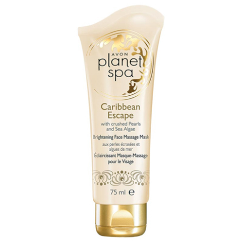 Avon Rozjasňující pleťová masážní maska s výtažky z Perel a Mořských Řas Planet Spa Caribbean Escape 75 ml