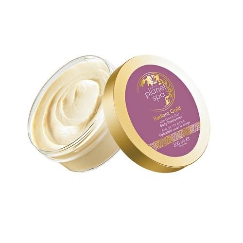 Avon Rozjasňující třpytivý tělový krém se zlatými částečkami a olejem z agarového dřeva Planet Spa (Body Moisturizer) 200 ml