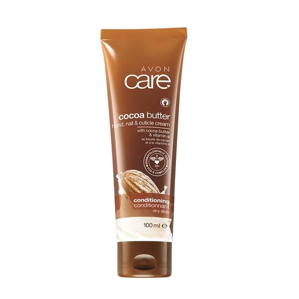 Avon Vyživující krém na ruce a nehty s kakaovým máslem a vitaminem E Care (Hand Nail Cuticle Cream) 100 ml