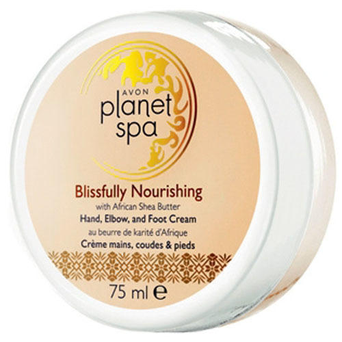 Avon Vyživujúci krém na ruky, nohy a lakte s bambuckým maslom Planet Spa (Hand, Elbow and Foot Cream Blissfully Nourishing with African Shea Butter) 75 ml