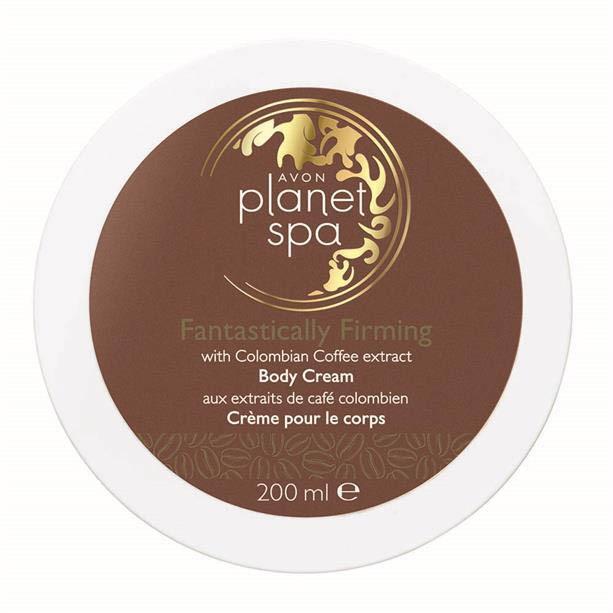 Avon Zpevňující tělový krém s výtažky z kávy Planet Spa Fantastically Firming 200 ml