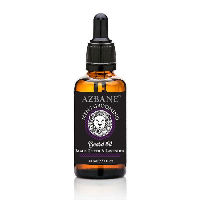Azbane Pečující olej na vousy Černý pepř a levandule (Beard Oil) 30 ml