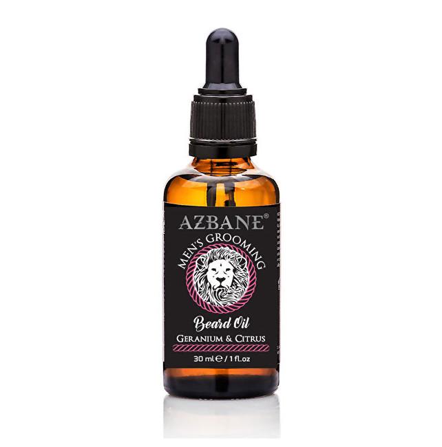 Azbane Pečující olej na vousy Pelargónie a citrusové plody (Beard Oil) 30 ml