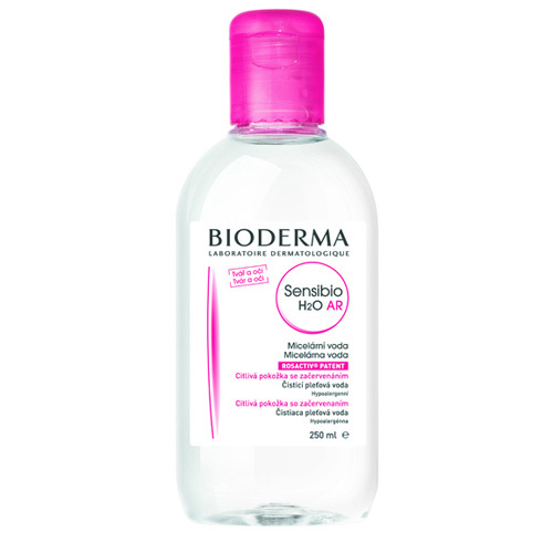 Bioderma Čisticí a odličovací micelární voda na citlivou pleť Sensibio AR H2O 250 ml+250 ml