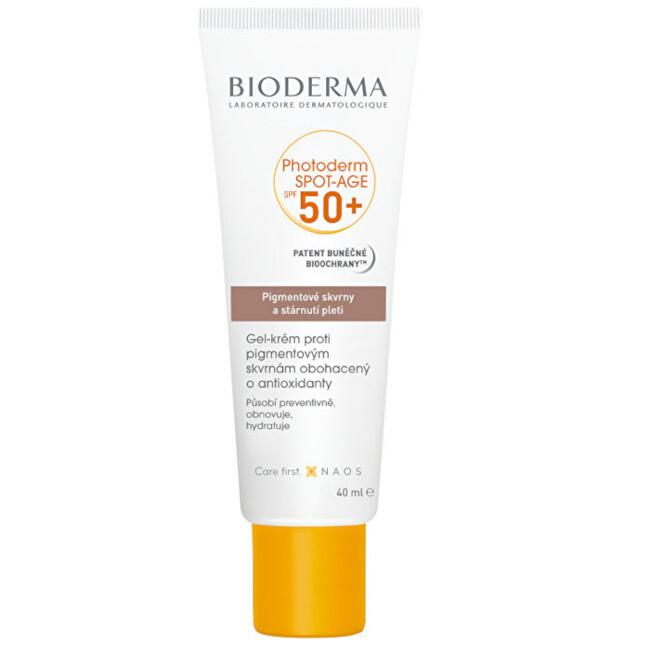 Bioderma Gel-krém proti pigmentovým skvrnám Photoderm Spot-Age SPF 50+ 40 ml