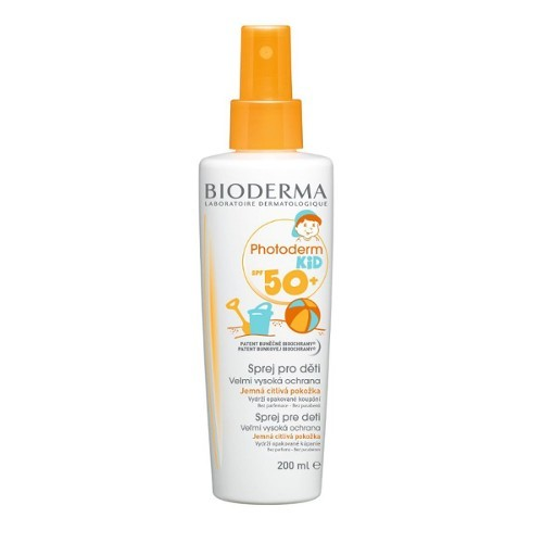 Bioderma Vodeodolný opaľovací sprej pre deti SPF 50+ Photoderm Kid (Spray For Children Very High Protection) 200 ml