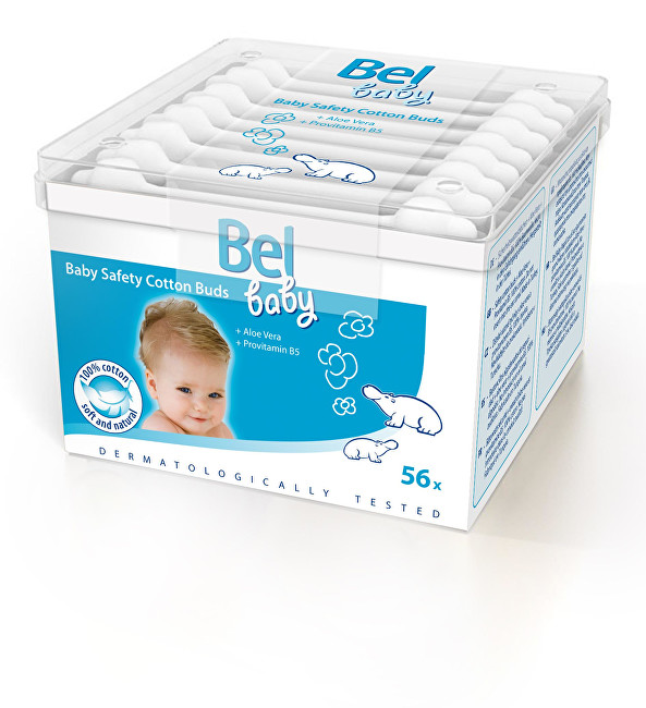 Bel Dětské vatové tyčinky Baby (Safety Cotton Buds) 56 ks