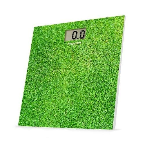 Beper Digitální skleněná osobní váha do 150 kg 40810, zelená - tráva