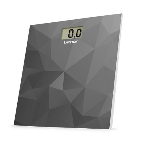 Beper Digitálna sklenená osobná váha do 150 kg 40810 - šedá