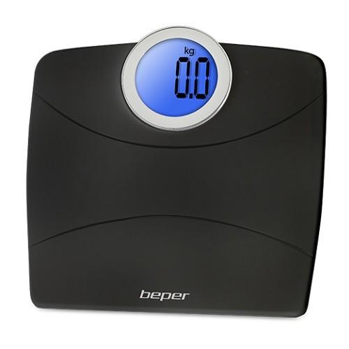 Beper Digitální váha s kulatým displejem do 180 kg 4081 - černá