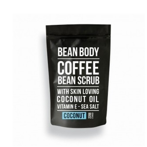 Bean Body Tělový peeling Kokos (Coffee Bean Scrub Coconut) 220 g