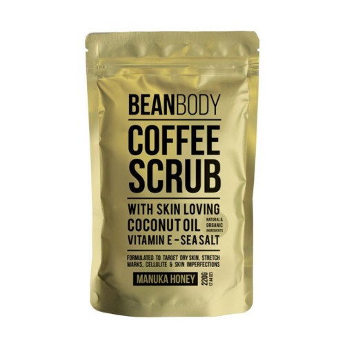 Bean Body Tělový peeling Manukový med (Coffee Bean Scrub Manuka Honey) 220 g