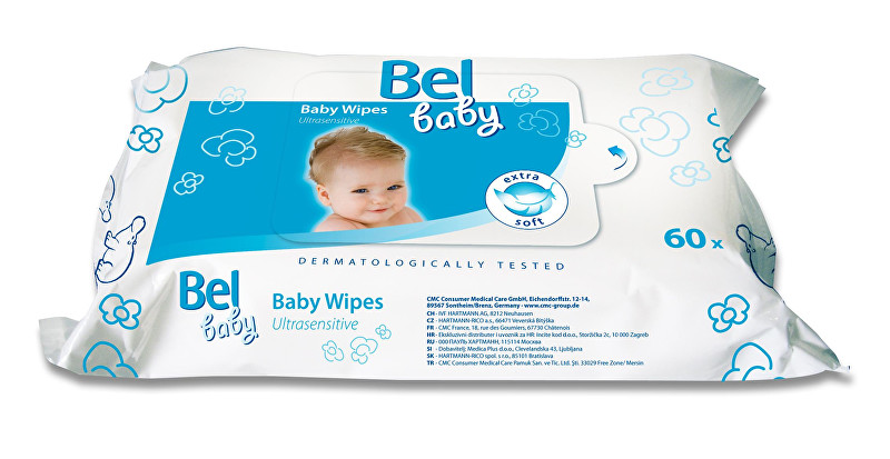 Bel Vlhčené obrúsky Baby ( Ultra sensitive Baby Wipes) 60 ks