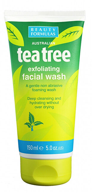 Beauty Formulas Exfoliační čisticí gel Tea Tree (Exfoliating Facial Wash) 150 ml
