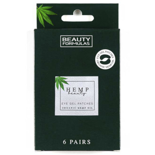 Beauty Formulas Gelové masky na oči s konopím Hemp Beauty Eye Gel Patches Organic Hemp Oil 6 párů