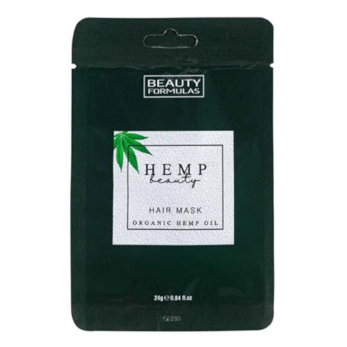 Beauty Formulas Maska na vlasy s konopím Hemp Beauty Hair Mask Organic Hemp Oil 24 g