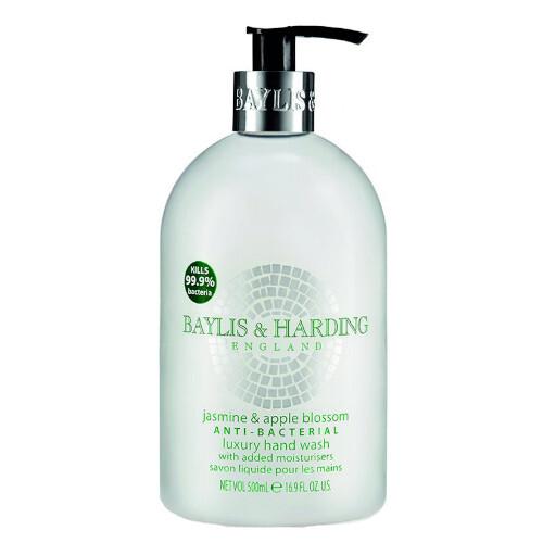 Baylis & Harding Antibakteriální tekuté mýdlo na ruce Jasmín a jablečný květ (Anti-Bacterial Luxury Hand Wash) 500 ml