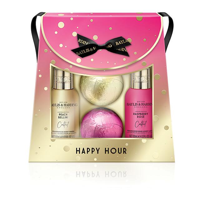 Baylis & Harding Kosmetická sada péče o tělo v tašce Happy Hour 4 ks