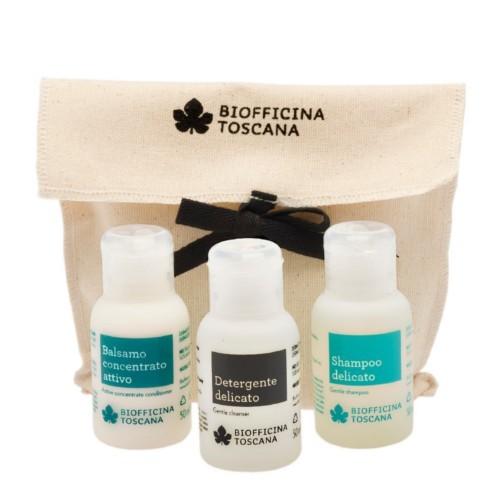 Biofficina Toscana Cestovní sada tělové a vlasové péče pro ženy (Travel Sizes)