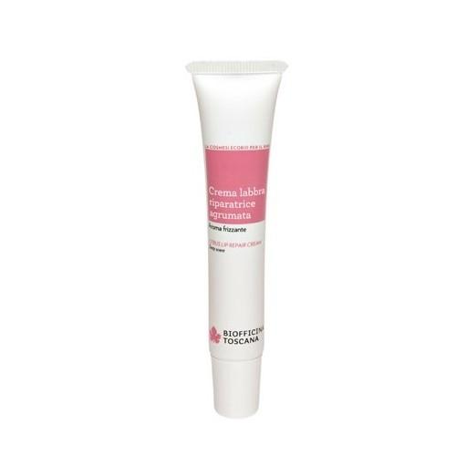 Biofficina Toscana Citrónový krém pre starostlivosť o pery s pikantnou vôňou (Citrus Lip Repair Cream) 15 ml