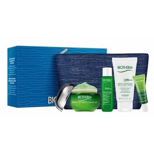 Biotherm Skin Oxygen pleťový gél 50 ml + pleťové sérum 10 ml + čistiaci gél 50 ml + čistica voda 30 ml + kozmetická taška darčeková sada