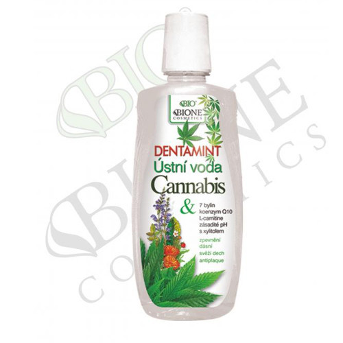 Bione Cosmetics Dentamint ústní voda Cannabis 500 ml