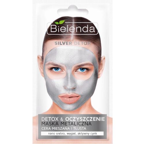 Bielenda Detoxikační čisticí maska pro mastnou a smíšenou pleť Silver Detox (Detoxifying Face Mask) 8 g