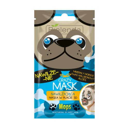 Bielenda Hydratační maska 3D Crazy Mask (Moisturizing 3D Sheet Mask Dog) 1 ks