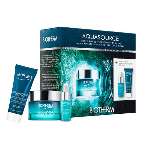 Biotherm Aquasource denní pleťová péče 50 ml + pleťové sérum Life Plankton 7 ml + noční pleťový balzám Aquasource Night Spa 20 ml dárková sada