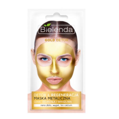 Bielenda Regenerační detoxikační maska pro zralou a citlivou pleť Gold Detox (Detoxifying Face Mask) 8 g