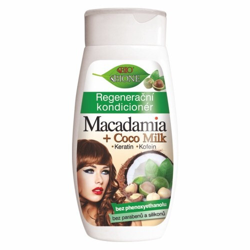 Bione Cosmetics Regenerační kondicionér Macadamia + Coco Milk 260 ml