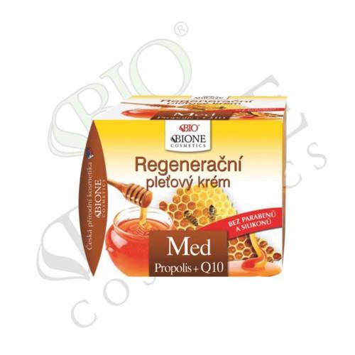 Bione Cosmetics Regenerační pleťový krém s propolisem Med + Q10 51 ml