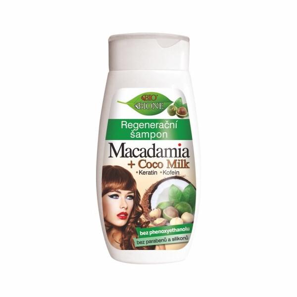 Bione Cosmetics Regeneračný šampón Macadamia + Coco Milk 260 ml