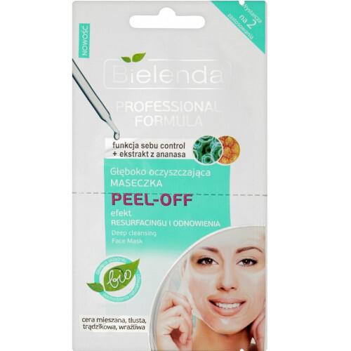 Bielenda Slupovací gelová maska pro stažení pórů a matný vzhled pleti Professional Formula (Deep Cleansing Face Mask) 2x5 g