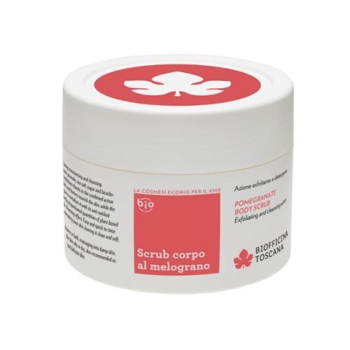 Biofficina Toscana Tělový peeling s granátovým jablkem a s čisticím efektem (Pomegranate Body Scrub) 220 ml