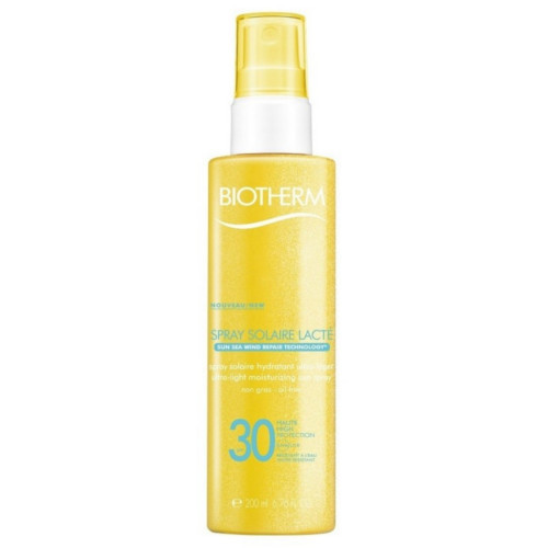 Biotherm Tělo vý sprej na opaľovanie SPF 30 Spray Solaire Lacto ( Ultra Light Moisturizing Sun Spray) 200 ml