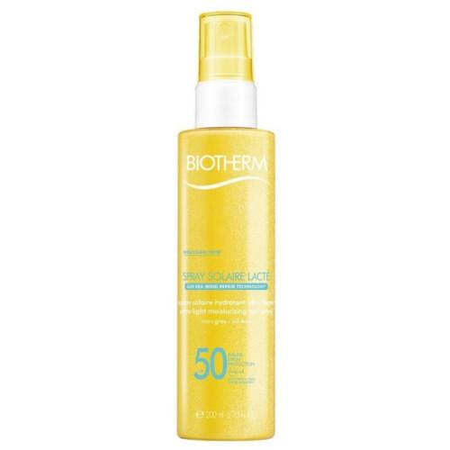 Biotherm Tělo vý sprej na opaľovanie SPF 50 Spray Solaire Lacto ( Ultra Light Moisturizing Sun Spray) 200 ml