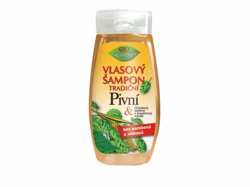 Bione Cosmetics Vlasový šampon tradiční Pivní 260 ml
