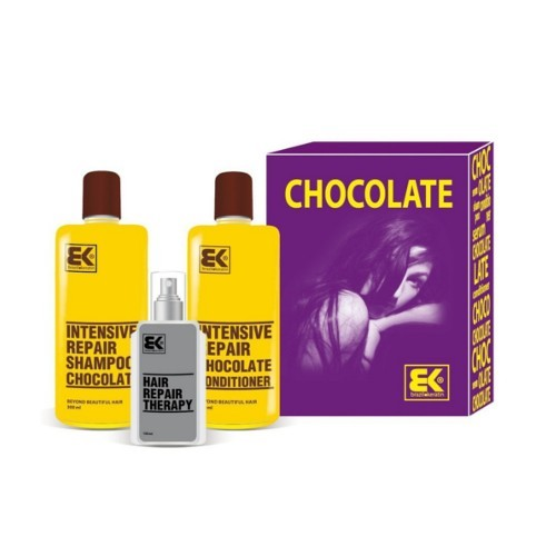 BK Brazil Keratin Chocolate šampon 300 ml + kondicionér 300 ml + olej / sérum 100 ml dárková sada