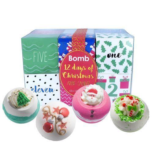 Bomb Cosmetics Adventný kalendár 12 sviatočných dní (12 days of Christmas) 12 x 160 g
