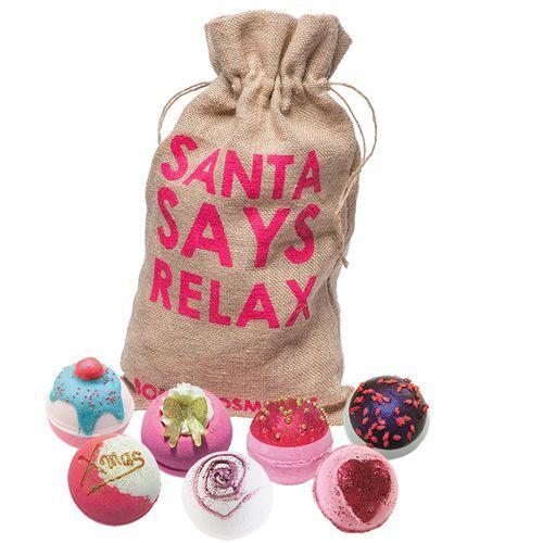 Bomb Cosmetics Dárková sada šumivých balistik Vánoční relax Santa Says Relax (Gift pack) 7 x 160 g