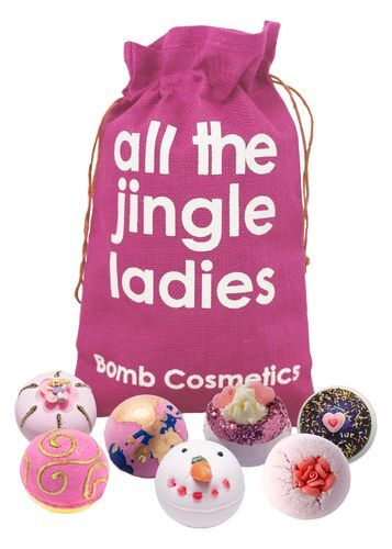 Bomb Cosmetics Sada 7 šumivých bômb All the Jingle Ladies (Gift pack) 7 x 160 g