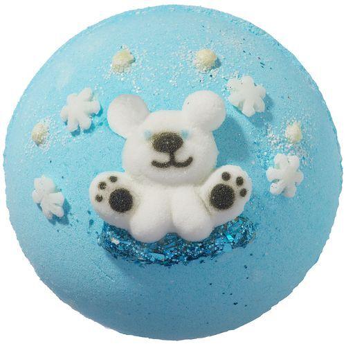 Bomb Cosmetics Šumivá koupelová bomba Polární medvěd Polar Express (Bath Blaster ø 7,5 cm) 160 g