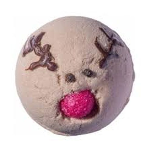 Bomb Cosmetics Šumivá koupelová bomba Run Rudolph Run (Bath Blaster ø 7,5 cm) 160 g